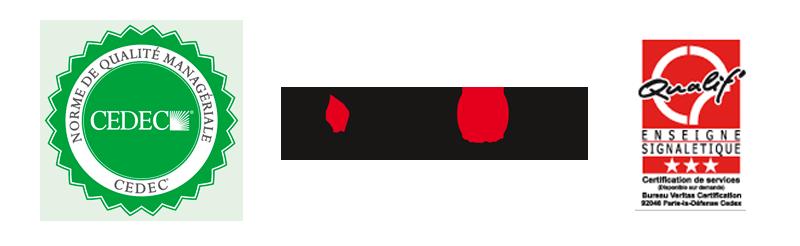 Yes Communication - CEDEC, E-visions, Certification qualif'enseigne 3 étoiles